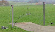 имитатор электромагнитного импульса ядерного высотного взрыва с горизонтальной поляризацией